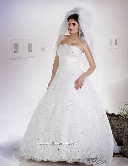 Khairieh mahfouz fashion designer wedding gowns lebanesemall for Lebanese wedding dress designers
