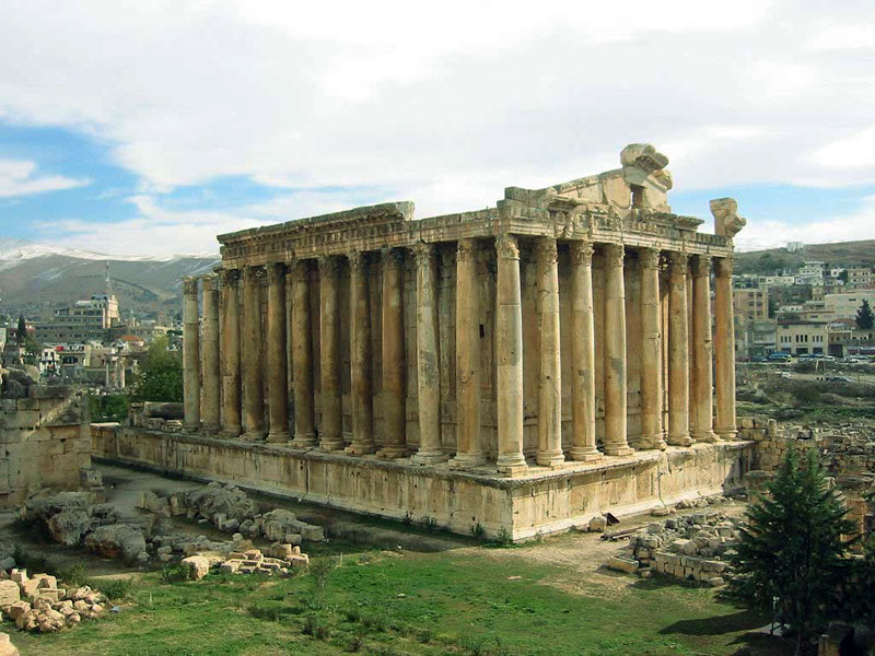 Baalbeck, lebanese cities, bekaa valley, roman ruins, roman temples, Temple of Jupiter, Bacchus Temple, Temple of Venus