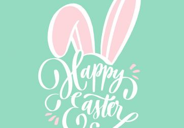 Free-Happy-Easter-Green-Pink-Bunny-1